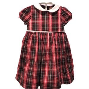 NWT $40 Carters 2-Pc Red Plaid Dress Party Holiday Wedding 3 6 12 18  Mo.